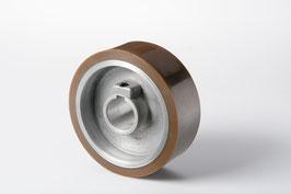 Gummierte Vorschubrolle 140 x 50 x 35 mm, Braun, 70 ShA