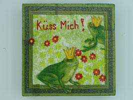 Acrylbild Decoupage Froschkönig Nr.2