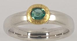 Silberring mit Smaragt Nr.1