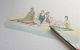 Papotage à la plage