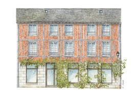 Carte postale 1re maison d'Emma et Charles Bovary