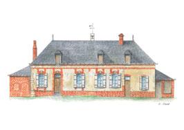 Carte postale Ferme des Bertaux où vivent le père Rouault et sa fille Emma  dans Madame Bovary de Gustave Flaubert