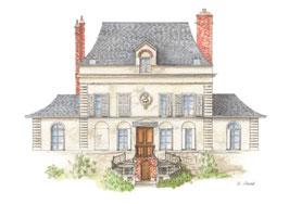 Carte postale Maison de campagne de la famille Flaubert  Déville-lès-Rouen (76)