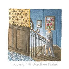 Songe dans l'escalier