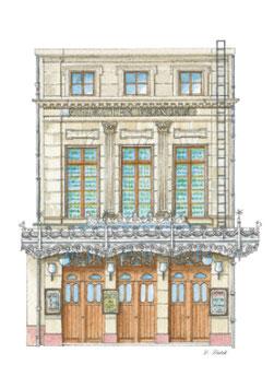 Carte postale Le Théâtre Français - Place du Vieux-Marché - Rouen (76)  Construit en 1792, détruit en 1944