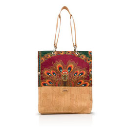 "Shopper aus Kork ""Afro Peacock"""