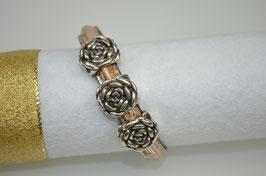 Armband aus Kork und Leder