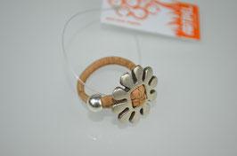 """Ring aus Kork """"Blume"""""""