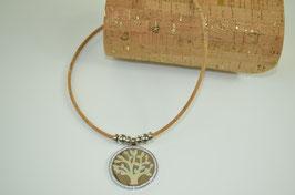 "Halskette aus Kork ""Pastel Tree"""