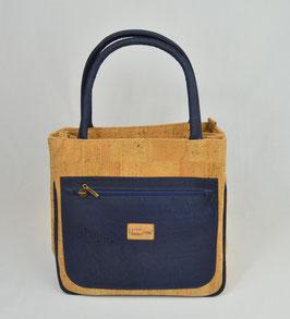 """Tasche aus Kork """"blue velvet"""""""
