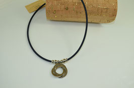 "Halskette aus Kork ""3 Ringe"""