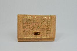"Portemonnaie aus Kork ""gold flowers"""
