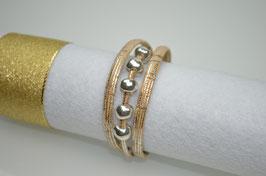 Armband aus Kork mit Metallperlen