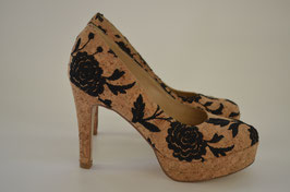 "Pumps ""Cork Rose"" (vegan)"