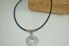 """Halskette aus Kork """"3 Kreise"""""""