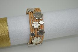 Armband aus mehreren Korkreifen