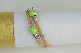 "Armband aus Kork ""colours"""