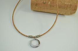 "Halskette aus Kork ""Dual Ring"""
