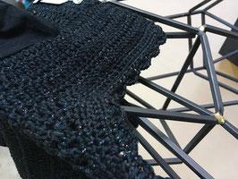 Bonnet noir pailletes