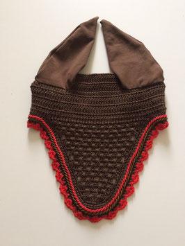 Bonnet marron 2 cordelettes