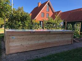 Hochbeet aus Lärchenholz 4m lang