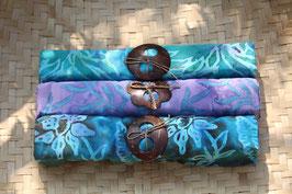 Dreier-Set: in grün - flieder - blau mit türkis