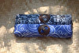 Zweier-Set: blau mit Linien und taubenblau mit Ornamenten