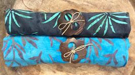 Zweier-Set: verschiedene Grundfarben - beide mit Palmblätter