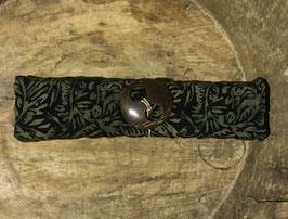 Sarong schwarz und florale Ornamente in ocker-braun Verläufen