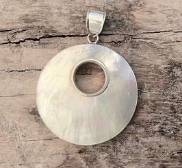 Perlmuttanhänger in Silberfassung
