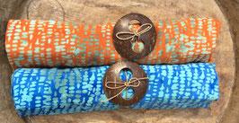 Zweier-Set: verschiedene Grundfarben - beide mit Tupfer in türkis
