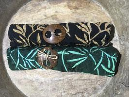 Zweier-Set: Palmblätter in ocker & türkis