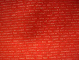 Juicy rot Schrift