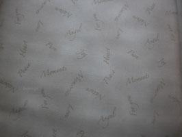 Dusty Schrift beige