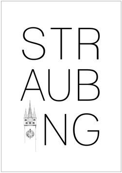 Poster  3 / Straubing Schrift mit Turm