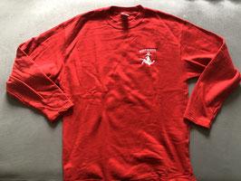 Navy Pinup Sweatshirt -rot- mit Sticklogo auf linker Brust