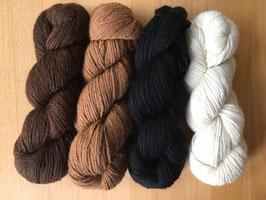 100 g Alpaca Garn Naturfarben/ pflanzengefärbt