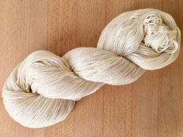 100 g Mini Merino Kaschmir Schurwolle Garn naturweiß/ pflanzengefärbt
