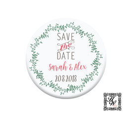 Save the Date Blumen Kranz