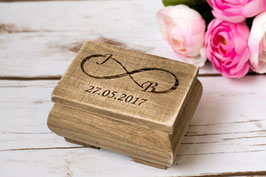 Wooden Infinity Wedding Bearer Box