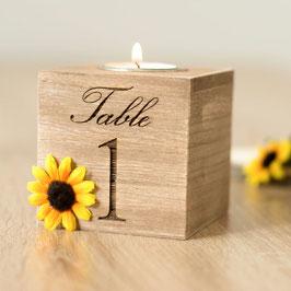 Tischnummer zur Hochzeits Tischdeko Sonnenblumen