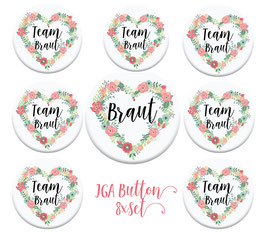 JGA Buttons Set x 8 Herz