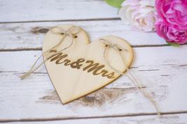 Ringkissen Herz aus Holz
