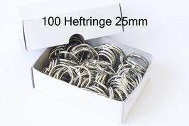 100 Buchringe x 25 mm