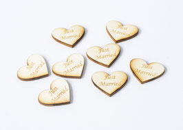 Herz - Just Married Love Tags 3cm