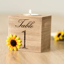 Table Numbers Wedding Sunflower Centerpieces table