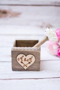 Holz Ständer Rose Stift