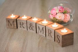 Mr Mrs Schriftzug Hochzeitstisch aus Holz