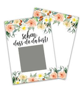 Rubbellos Karten Schön,dass du da bist Karten A7 DIN - Blumen