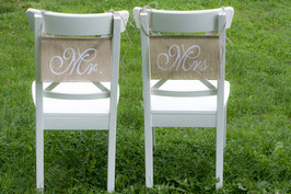 Mr Mrs Chair Sign Wedding Wooden Signs Photo Props Decor